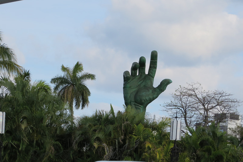 Was not so bad though.  We got to see some interesting sites along the way.  Not sure what the story is with the hand, but it makes me think of Charlton Heston (think Planet of the Apes).