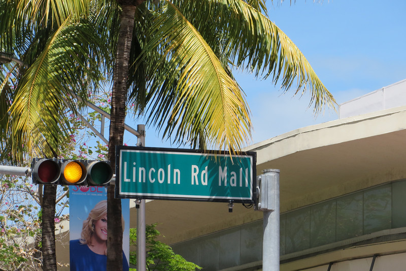 We took the bus to Lincoln Road Mall which is a large outdoor shopping area.