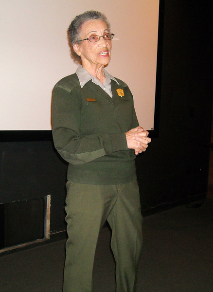 "Betty Soskin gives a presentation on her experiences as a ""Rosie The Riveter"" who worked at the shipyard during World War II"