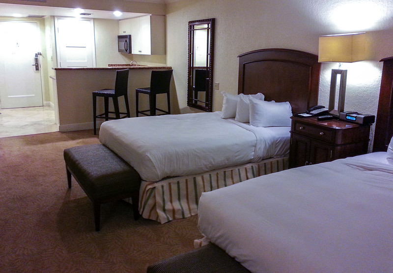 Our room prior to the cruise at Bonaventure Resort & Spa 10/19/13, not bad for $66 bidding on Priceline?
