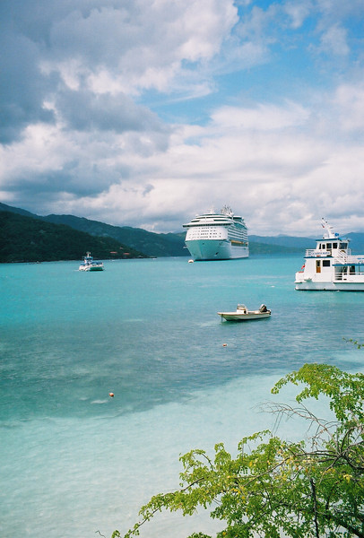 Explorer of the Seas 7 Day Cruise to the Eastern Caribbean. Cruises on 02/23/02 & 09/22/01.<br /> Explorer at Labadee, Haiti