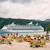 Explorer of the Seas 7 Day Cruise to the Eastern Caribbean. Cruises on 02/23/02 & 09/22/01.<br /> Explorer while at Labadee Haiti