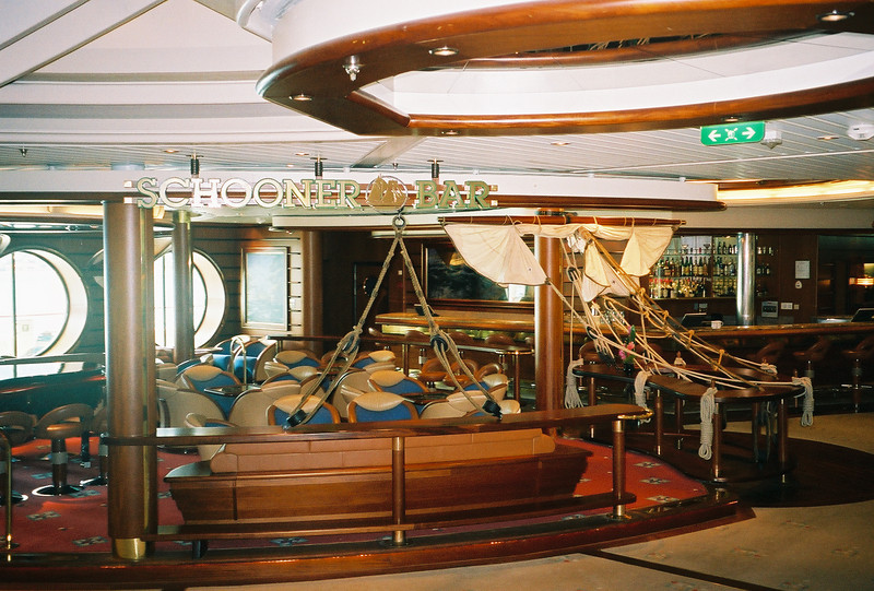 Explorer of the Seas 7 Day Cruise to the Eastern Caribbean. Cruises on 02/23/02 & 09/22/01.<br /> Schooner Bar on Explorer of the Seas.