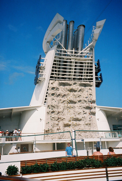 Explorer of the Seas 7 Day Cruise to the Eastern Caribbean. Cruises on 02/23/02 & 09/22/01.<br /> The Rock Wall on Explorer
