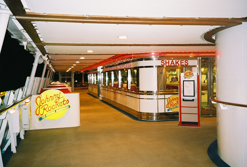 Explorer of the Seas 7 Day Cruise to the Eastern Caribbean. Cruises on 02/23/02 & 09/22/01.<br /> Johnny Rockets onboard Explorer of the Seas