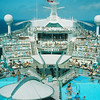 Explorer of the Seas 7 Day Cruise to the Eastern Caribbean. Cruises on 02/23/02 & 09/22/01.<br /> The Lido Deck taken from the Viking Crown.