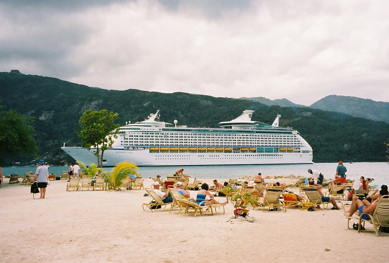 Explorer of the Seas 7 Day Cruise to the Eastern Caribbean. Cruises on 02/23/02 & 09/22/01.<br /> The Explorer at Labadee, Haiti