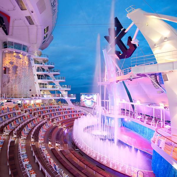 Aquatheater - Deck 6 Aft<br /> Oasis of the Seas - Royal Caribbean Cruise Line
