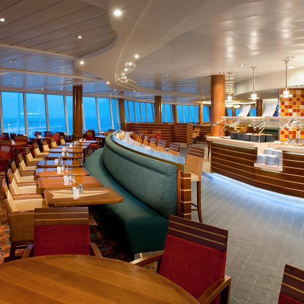 VWindjammer Restaurant - Deck 16 Aft<br /> Oasis of the Seas - Royal Caribbean Cruise Line
