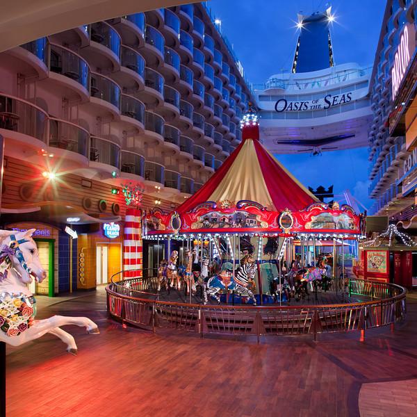 Boardwalk - Deck 8 Aft<br /> Oasis of the Seas - Royal Caribbean Cruise Line