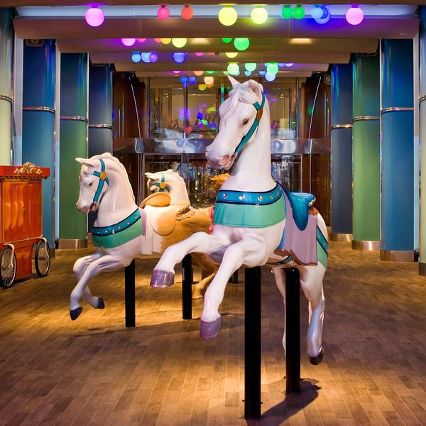 Boardwalk - Horses - Deck 6 Aft<br /> Oasis of the Seas - Royal Caribbean Cruise Line
