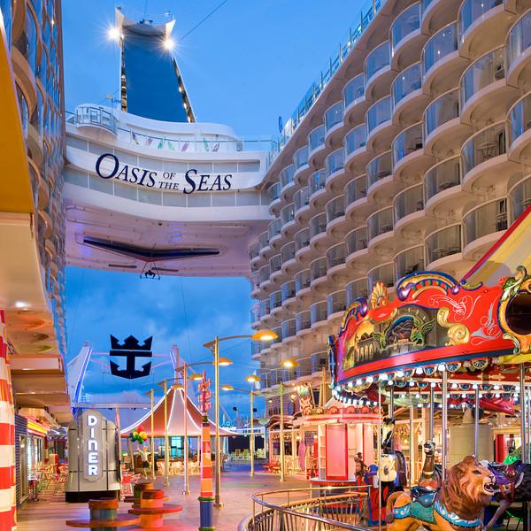 Boardwalk - Deck 6 Aft<br /> Oasis of the Seas - Royal Caribbean Cruise Line