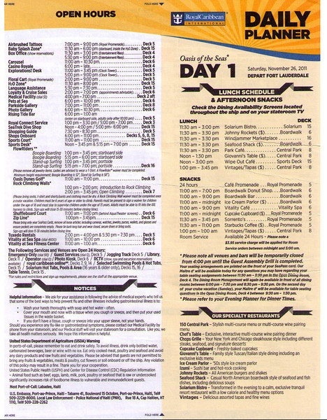 Oasis Daily Planner Day 1 (11/26/11) Page 1