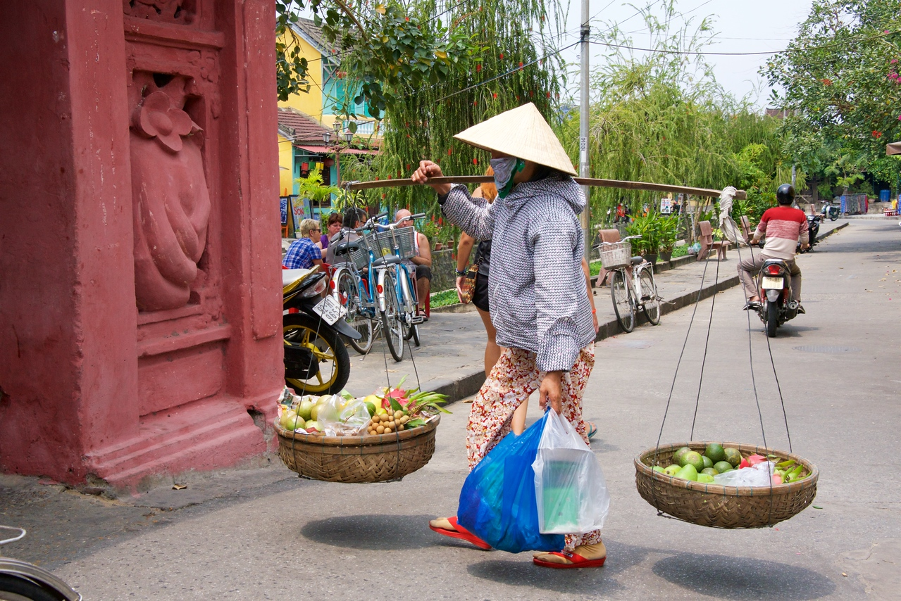 Another fruit vendor on the streets of Hoi An.