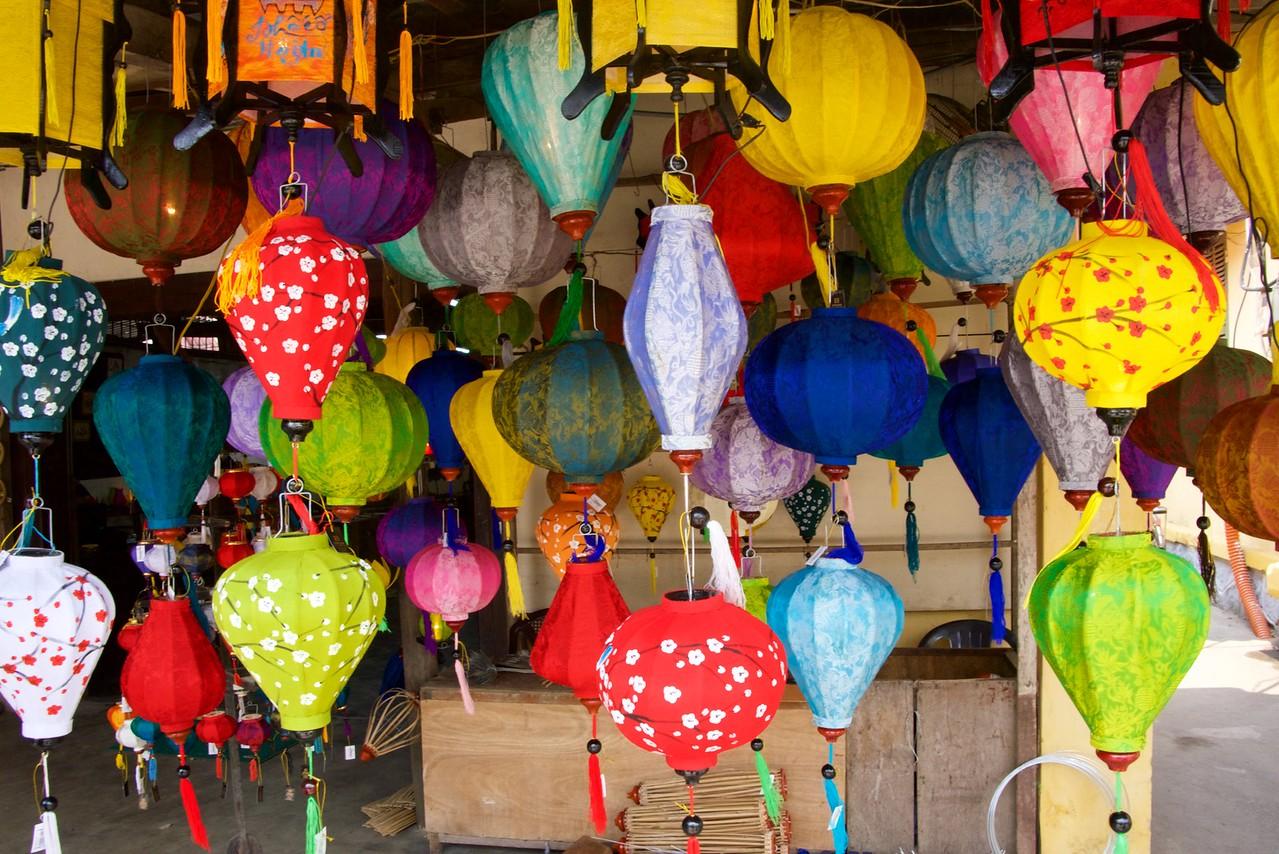 Silk lanterns.