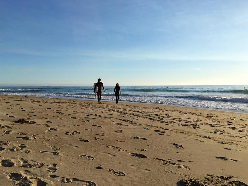 Surfers - T Street Beach, San Clemente, CA