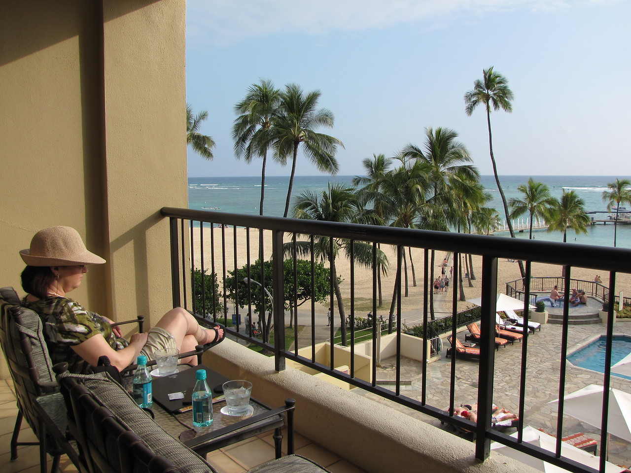 We take a break from unpacking and enjoy the view from the lanai.