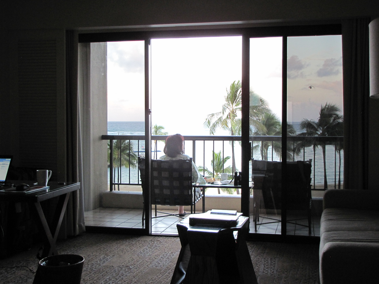 And enjoyed breakfast on the lanai.