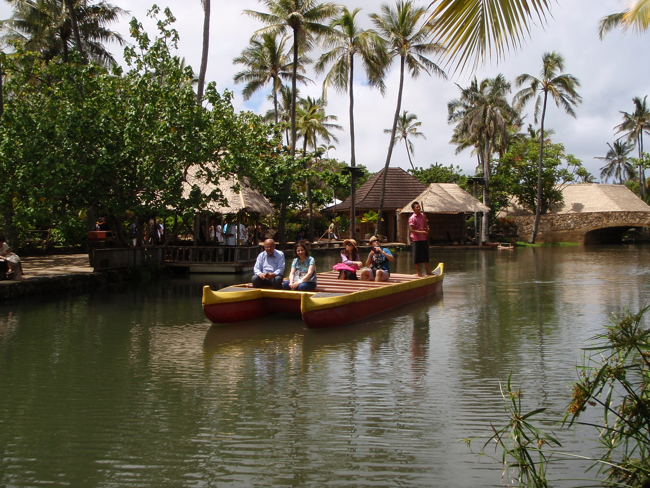 Visitors enjoying a canoe ride