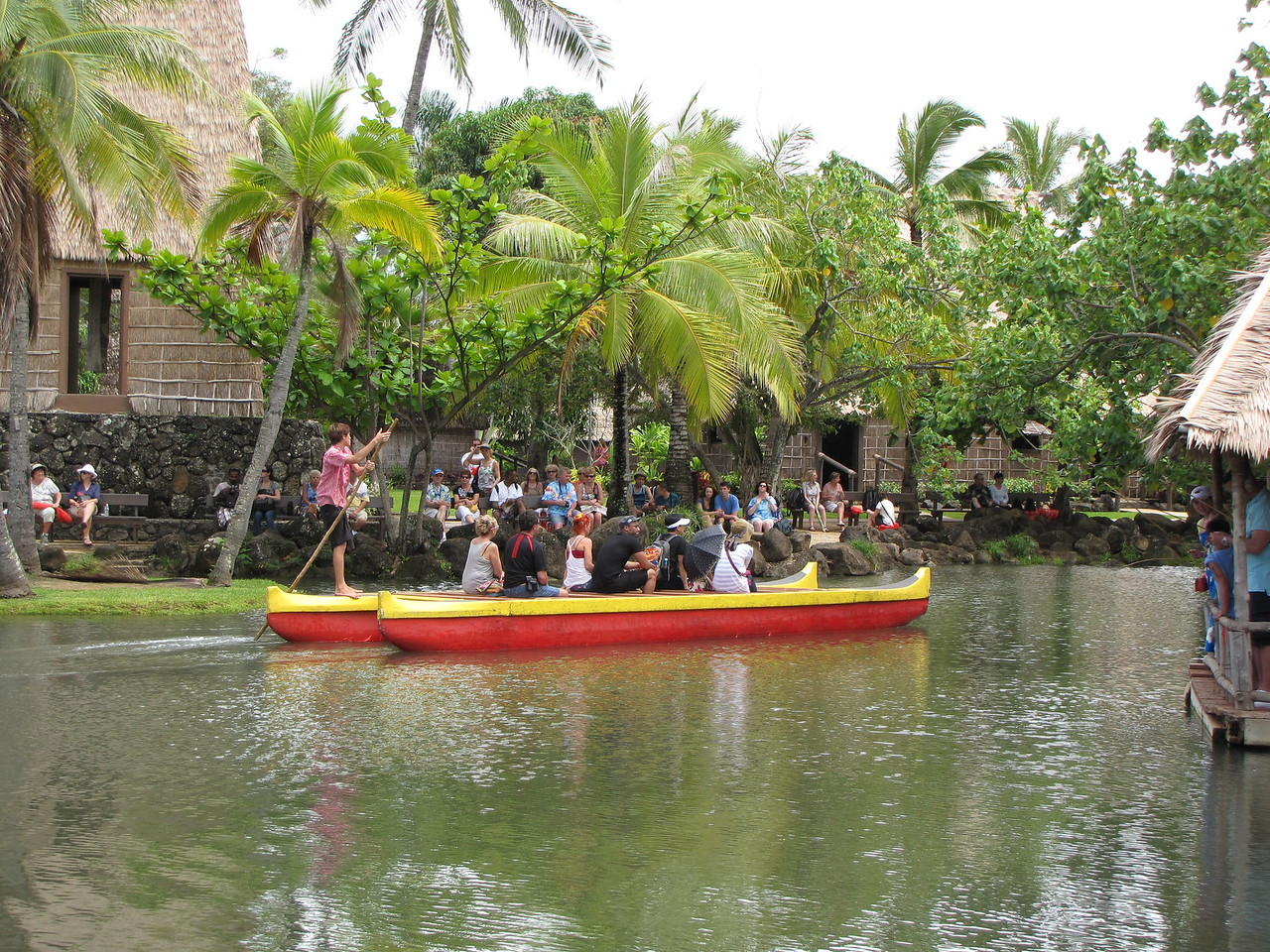 A canoe tour passes by Sheila