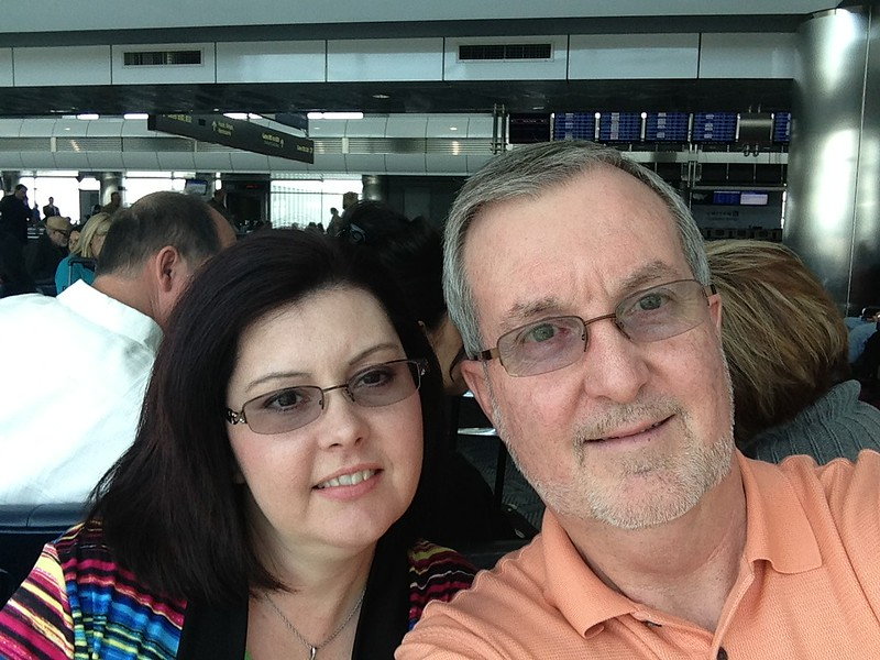 Our Hawaiian Adventure begins - Here we are in the Denver Airport on Sunday waiting on our flight to Honolulu.  Our flight was cancelled and we ended up spending the first night of our trip in Denver.