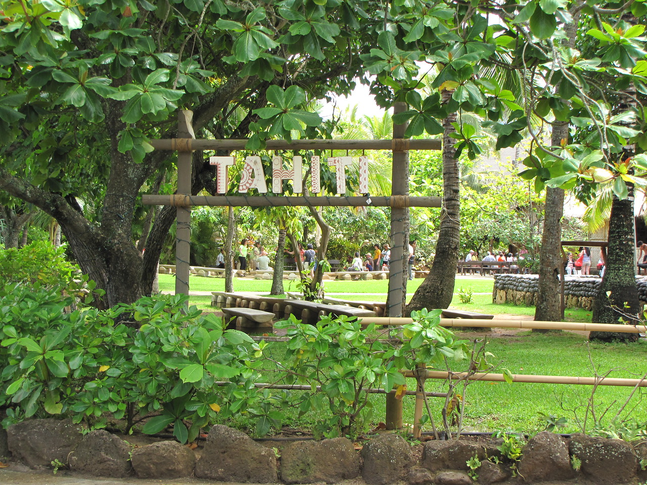 Tahiti village