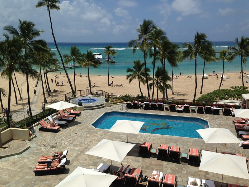 The view from our lanai was fabulous.  We were right on Waikiki Beach.