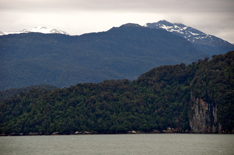 Puerto Chacabuco Sail In   Cliff and Snow Cap Andes 2011-01-0711-19-21