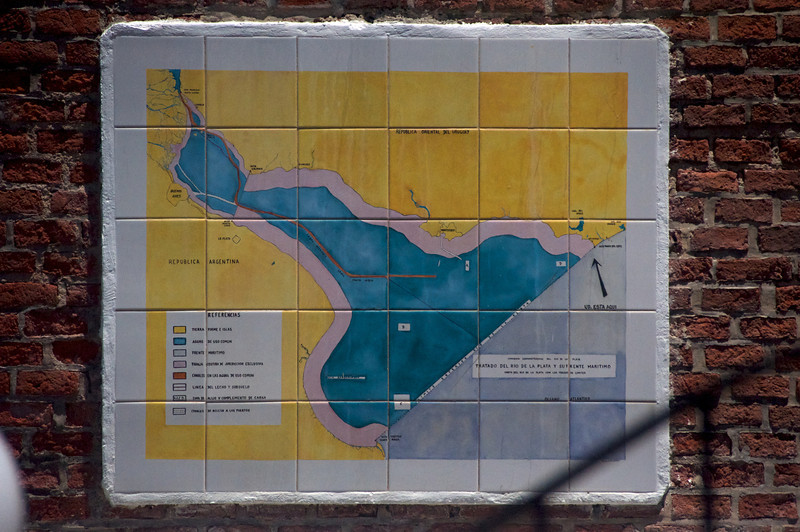 Ceramic Map of River Plata at Base of Lighthouse  2011-01-1812-32-29