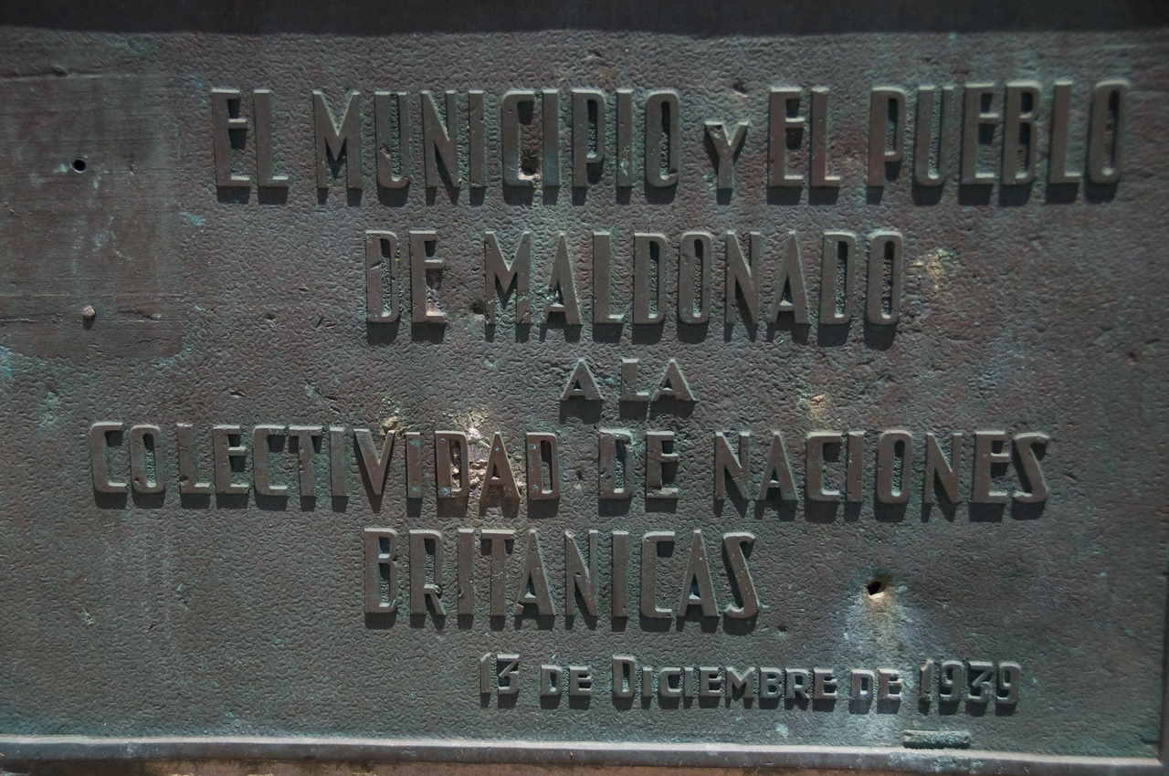 The Municipality & Town of Maldonado to the Community of British Nations    commemorating 12-13-39 2011-01-1812-43-45