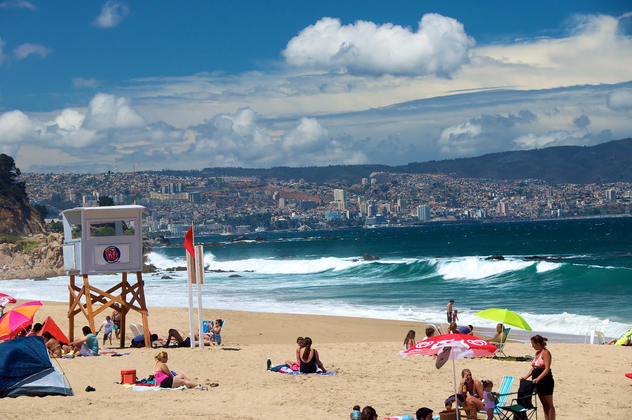 View of Valpairos from Vina del Mar Beach2011-01-0400-14-44