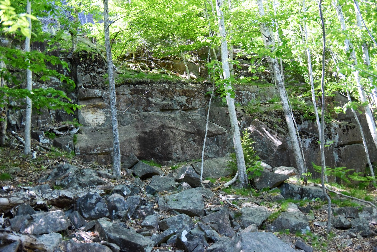 Example of Solid Granite Wall The Carriage Roads Were Cut Through