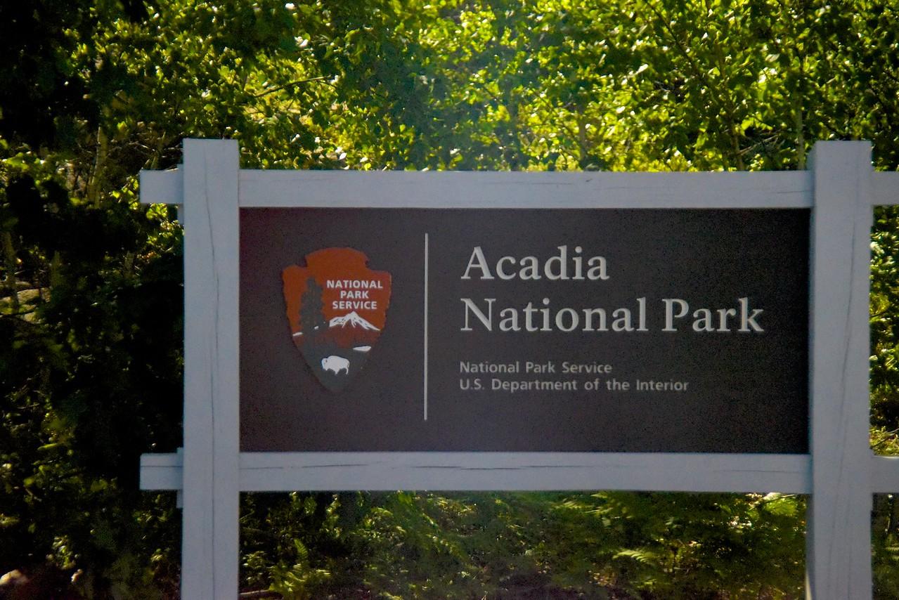 Sign Entering Acadia National Park