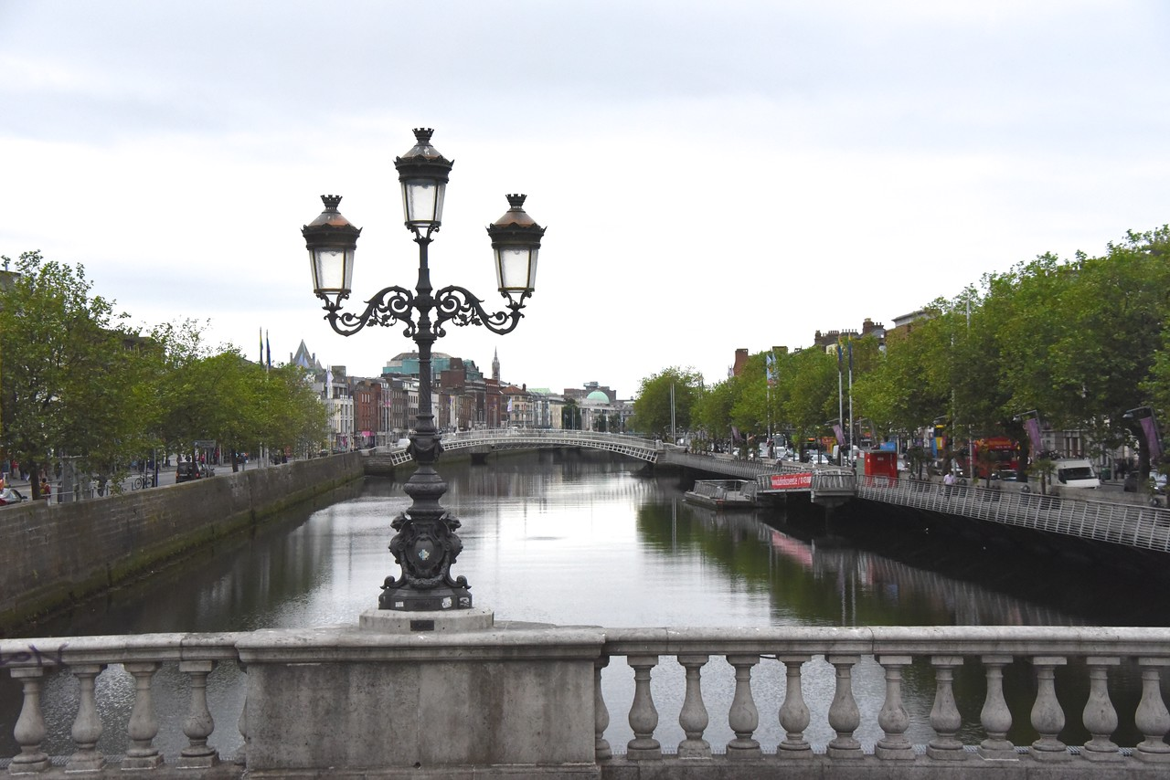 Scenic River Liffey  (From Bus)