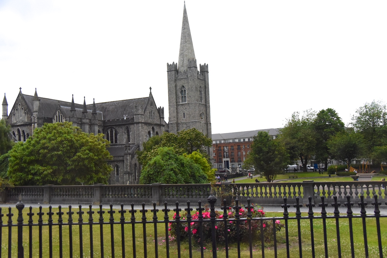 Back and Gardens of St  Patrick's Cathedral