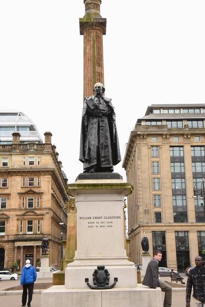 Statue of William Gladstone in St  George's Square