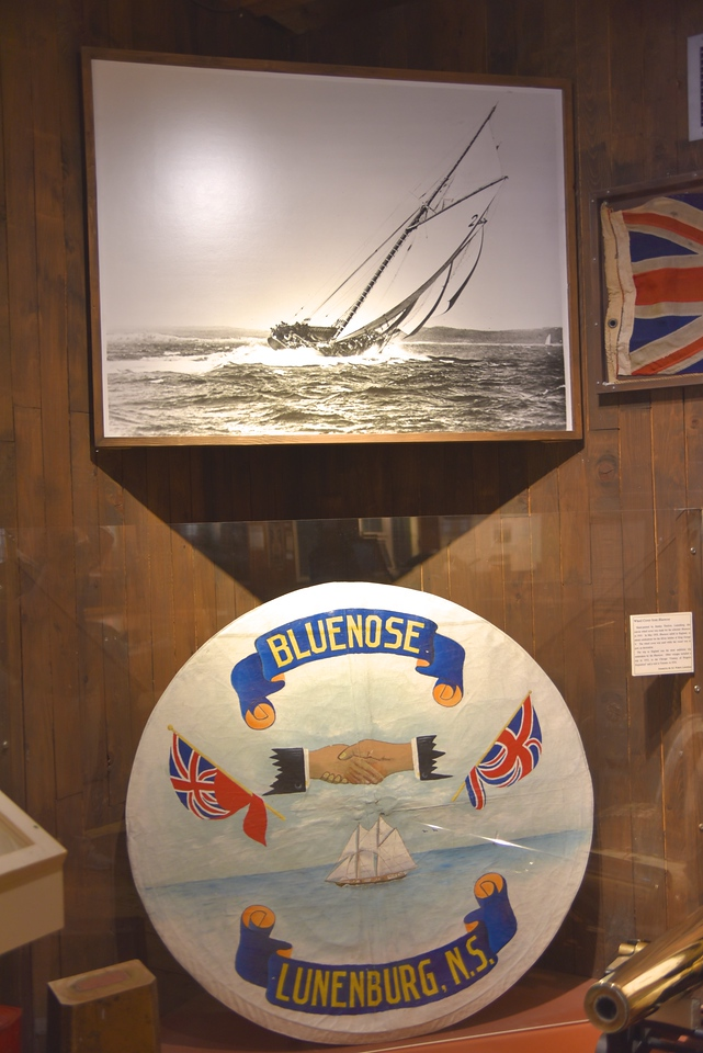 """The Bluenose, """"Queen of the North Atlantic fishing fleet"""", was a schooner built by Smth and Rhuland in Lunenburg"""
