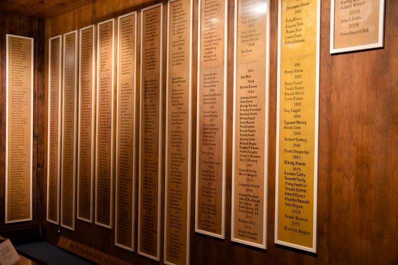 Lunenburg Fishermen's Memorial  Names of All Men Lost At Sea