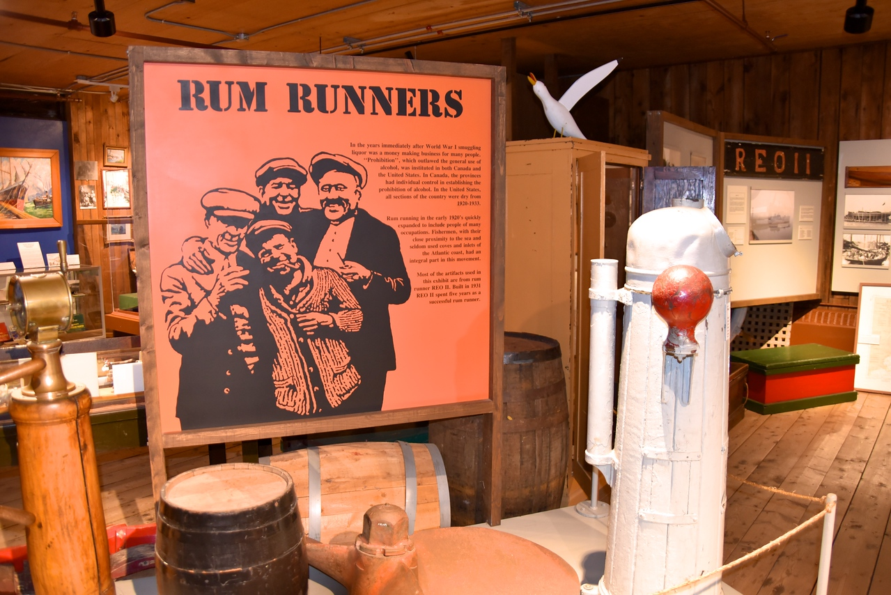 Men Turned To Rum Running, Also Known As Bottle Fishing, Because It Was More Lucrative ($300-month vs  $30-month for fishing)  Huey Corkum Was The Sparky (Telegraph Operator) Who Signaled The Ships When The Coast Was Clear To Bring The Rum Ashore
