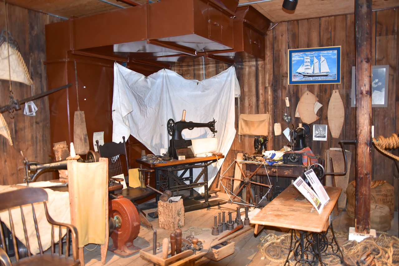 This Portion of The Museum Tells The Story of Randolph Hughes, Sail Maker
