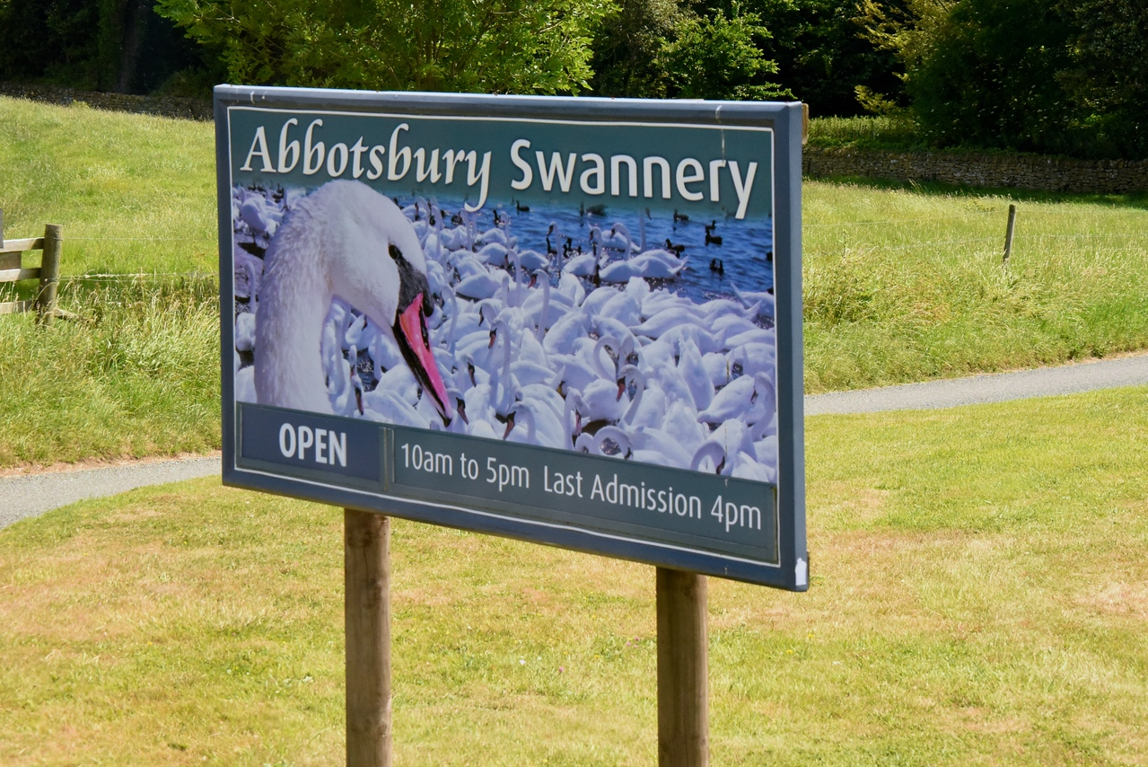 Entrance to Abbotsbury Swannery,The World's Only Managed Colony of Nesting Mute Swans  (From Bus)
