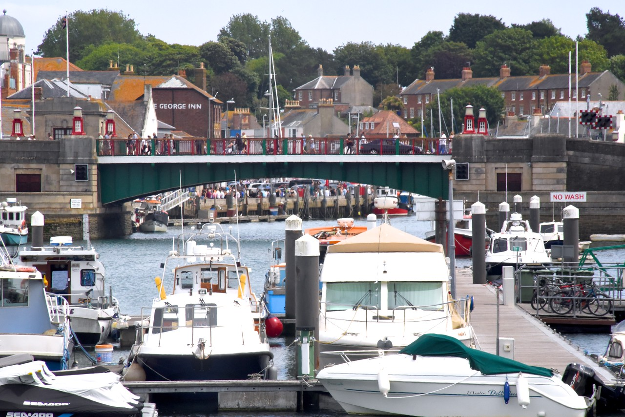 Weymouth Harbour Bridge  Opens On A Regular Basis To Allow Ships Into Marina