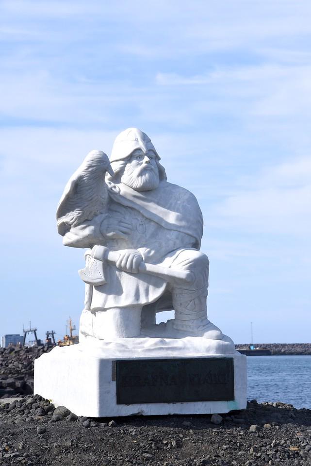 Viking Statue At Vikingaheimar Entrance