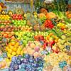 La Rambla - Fruit display at Mercat St Josep (St Josep Market).