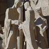 La Sagrada - some of the Statues near the elevator - Passion Facade.