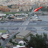 Gibraltar - to cross the border with Spain, pedestrians and vehicles alike have to cross the airport runway.