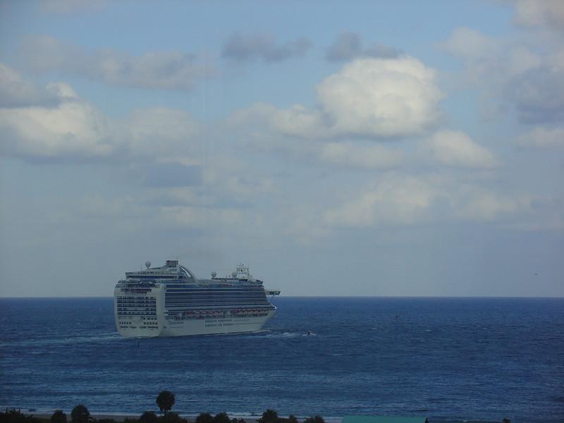Crown Princess heads to sea.