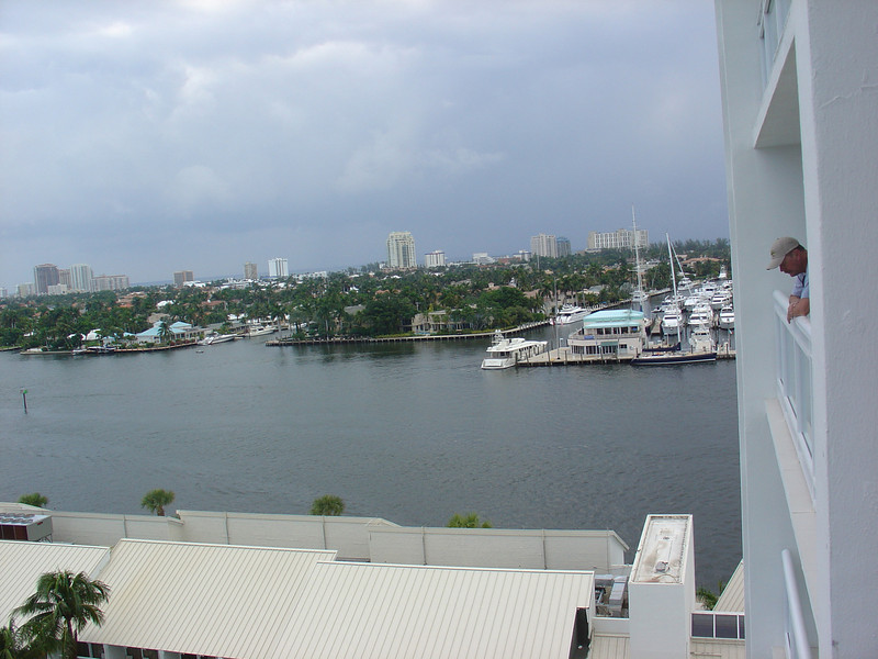 View of the intracoastal waterway from our room.