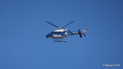 Swedish Police Helicopter SE-JPX over Royal Palace Gamla Stan Stockholm 12-11-2016 10-54-00