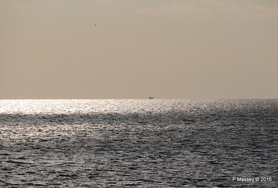 Distant Sunset Fishing Boat off Kavala PDM 02-11-2016 16-00-07